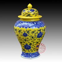 57syf jingdezhen ceramic vase with lid antique storage tank silk furnishings porcelain