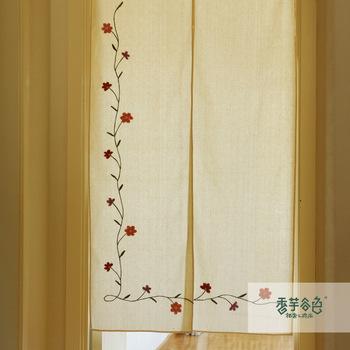 Lu fluid bordados hechos a mano r stico cortina del dise o - Cortinas estilo rustico ...