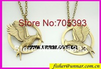 Katniss Movie The Hunger Games  antique brass Catching fire  NECKLACE Free shipping
