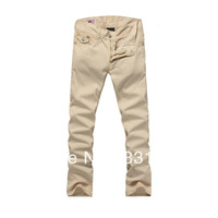 30-40size, 2013 new true  brand  men's khaki color  jeans