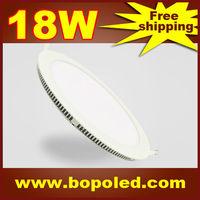 Free shipping BOPO Ultra-thin high-brightness LED Panel light SMD2835 110~265V Circular White aluminum 18W IP30 Ceiling light