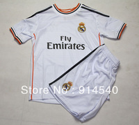 2013-14 Real Madrid Home kids soccer jersey suit  RONALDO#7,BENZEMA#9,PEPE#3