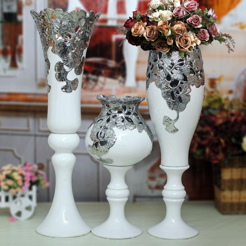 online kaufen gro handel gro e silberne vase aus china. Black Bedroom Furniture Sets. Home Design Ideas