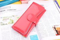 Patend Leather Women Wallets Card Holders Long-Length Purse For Women Lady's Clutch Bag  7 Colores Free Shipping