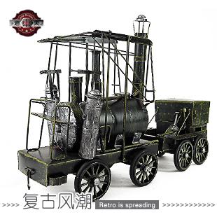 Handmade iron train model - steam locomotive - - handmade vintage wrought iron decoration