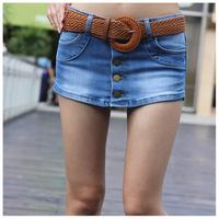Denim shorts plus size jeans skirt female culottes