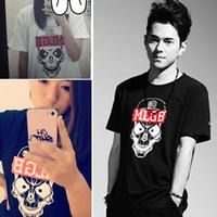 Free shipping 2013 male npc bones skull mlgb short-sleeve T-shirt