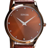 Watch male strap vintage table female ultra-thin watches male fashion