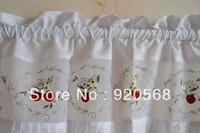 strawberry embroidered ruffle  curtain head curtain kitchen abinet curtain coffee curtain152 x 35cm