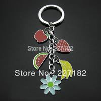 classical fruit lovely cute flower keychain circle petals key chain Gift men women lovers valentine gift souvenir keychain