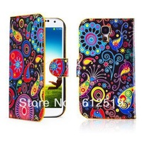 Leather Book Case Cover For Samsung Galaxy S4 -Jellyfish