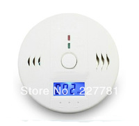 P103 LCD CO Carbon Monoxide Poisoning Sensor Warning Alarm Detector Tester White
