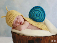 Cute Baby Infant Hand Knitted Costume Photo Photography Prop Newborn Clothes   handmade unique  clothes snail  +Free Shipping