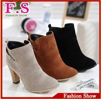 New arrival free shipping high heels ankle half boots platform women fashion shoes XB022 factory hot price Big size 34-43