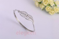 Platinum s925 pure silver bracelet female exquisite Women flower silver bracelet female