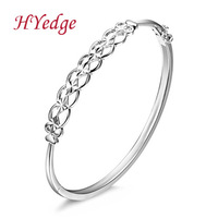 Silver platinum 925 pure silver Women mantianxing opening fashion brief bracelet