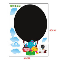 [Top-Me]- Children's Blackboard Wall Stickers - Hot Air Balloon Design great for playroom