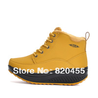 2013 new arrival women's winter shoes fashion casual breathable high-top leather shoes LX-076 two colors free shipping