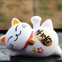 R . h solar doll car accessories decoration cat lucky cat auto supplies