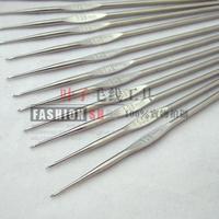 Practice metal hook needle single yarn knitted tools hook needle bamboo needle sweater needle