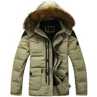 2013 NEW brand High quality fashion men's down jacket winter waterproof windproof hoodie down coat outdoor men Ski suit