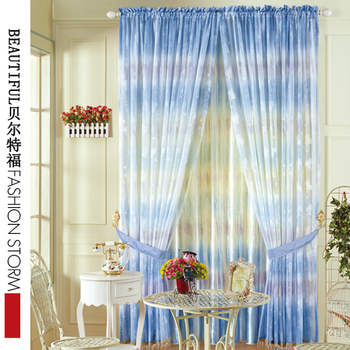 2013 fabric curtain double faced jacquard sun-shading curtain print bedroom curtain shade cloth