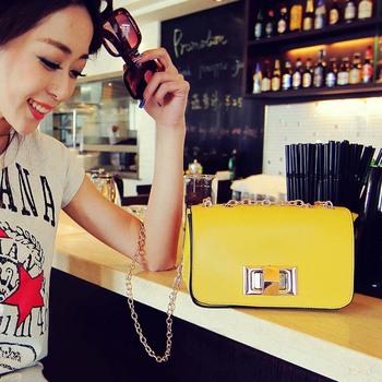 2013 fashion chain lock candy color the banquet women's handbag messenger bag