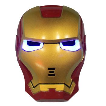 Iron Man Emission Mask PVC + LED Kids Toys Free Shipping