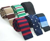 gravatas special offer patchwork adult men gravata 2014 new fashion necktie brand classic knitting men's tie free shipping
