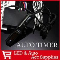 Turbo Timer 405-A021 Turbo Timer Wire Harness Universal Auto Turbo Timer Turbo Digital LED Display Blue