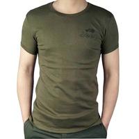 Free Shipping Outdoor clothes men's clothing t-shirt elastic tight t-shirt 100% men's short-sleeve cotton