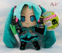 Hatsune Miku VOCALOID series of Japanese anime plush toys dolls 24CM smile Hatsune Miku 5pcs/lot