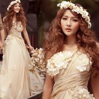 Vintage wedding dress wedding dress the royal princess bride wedding dress formal maternity wedding dress one shoulder hs226
