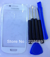Replacement Screen Glass Lens for Samsung Galaxy SIII S3 Mini i8190 White +Tools