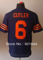Free Shipping -#6 Jay Cutler Men's Elite Alternate 1940s Throwback Navy Football Jersey