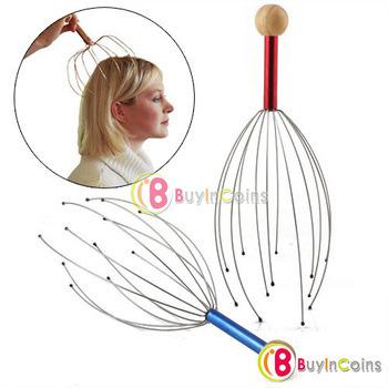Head Neck Scalp Equipment Stress Relax Massage Massager 10pcs/lot free shipping