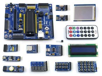 """PIC microcontroller development board PIC PIC18F4520 development board learning board +2.2 \"""" LCD 12 module"""