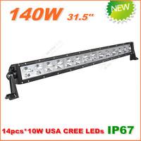 Free Shipping New 140W CREE LED Work Light  Bar 12V 24V IP67 Flood Spot beam For 4WD 4x4 Off road LED Light Bar TRUCK BOAT TRAIN