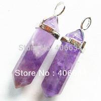 (Min.order 10$ mix) Free shipping (1piece/lot)natural amethyst Pendant Bead