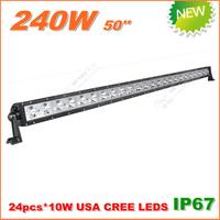 Free Shipping New 240W CREE LED Work Light  Bar 12V 24V IP67 Flood Spot beam For 4WD 4x4 Off road LED Light Bar TRUCK BOAT TRAIN