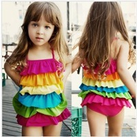 2013 baby girl swimwear ,bikini one piece, girls swimwear,colorful child swimwear free shipping