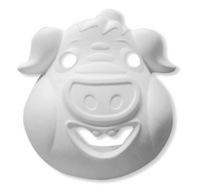 Diy white eco-friendly pulp doodle mask pig halloween mask dance party