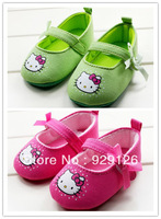 Free shipping,wholesale 6 pairs/lot,cute cat princess baby shoes soft non-slip sole toddler shoes, pre-walker fist walker shoes