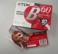 Big tdk tape tdk blank tape tdk-b60 tape  hot free