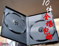 Dvd box cd box single loaded dvd box black double  hot free shipping