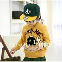 Free shipping 2013 spring child long-sleeve sweatshirt 4piece/lot