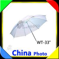 "Free shipping +tracking number 1pcs100% new ! 2PCS High Quality 33"" 83 cmTranslucenr white Photo Light Studio reflector Umbrella"