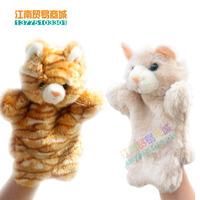 2PCS Animal puppet toy cat Large plush puppet child birthday gift plush hand puppet free shipping
