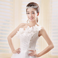 2013 New Arrival Princess Beaded Floral Lace up Back Wedding Dress