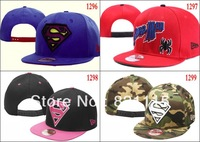 Free shipping Cheap superman adult Snapback Hat most popular cartoon cap many choice pick your styles!